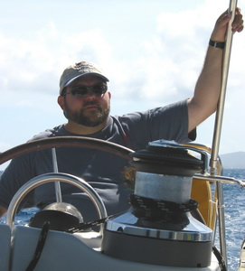 Mike Sailing in BVI