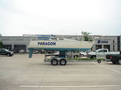Olson 25 PARAGON in front of Paragon Innovations Office